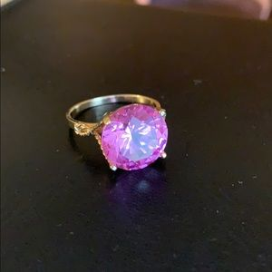 10K Created Pink Sapphire Ring NWOT